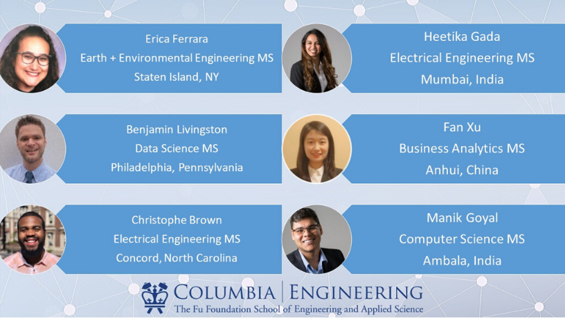 Columbia Engineering graduate student panelist